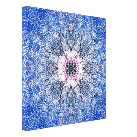 Winter Mandala Canvas Print
