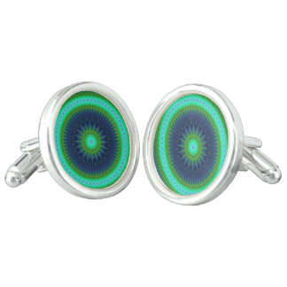 Winter mandala cufflinks
