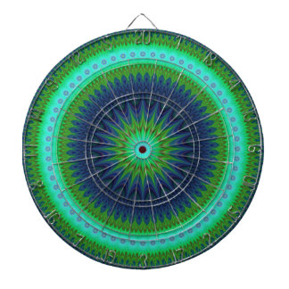 Winter mandala dart boards