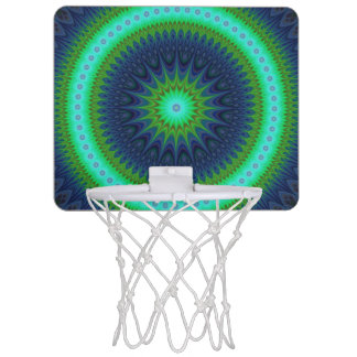 Winter mandala mini basketball hoop