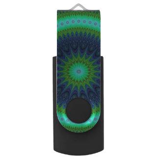 Winter mandala USB flash drive