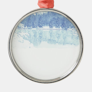 winter metal ornament