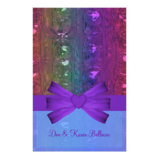 Winter Metallic Snowflakes Customized Stationery