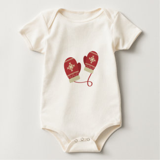 Winter Mittens Baby Bodysuit