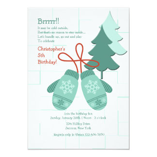 Winter Mittens Invitation