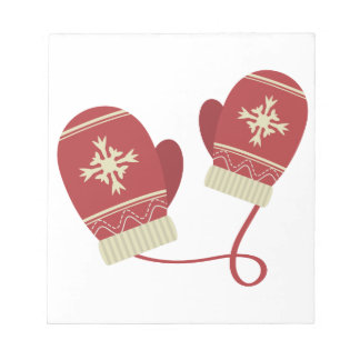 Winter Mittens Notepad