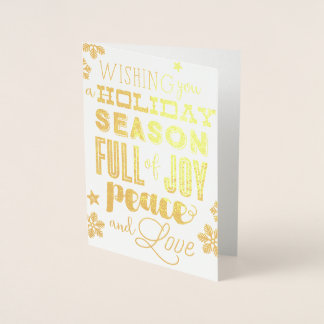 Winter Mix Snowflakes and Typography Holiday Card