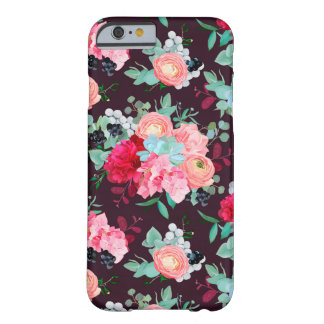 Winter mixed bouquets of peony, ranunculus, succul barely there iPhone 6 case