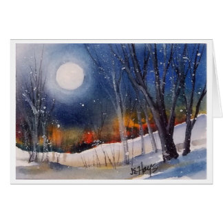 WINTER MOON CARD