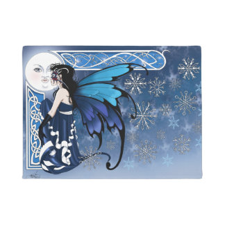 Winter Moon Fairy Doormat