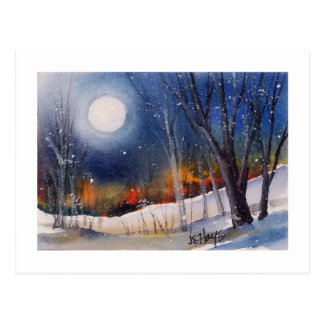 WINTER MOON POSTCARD
