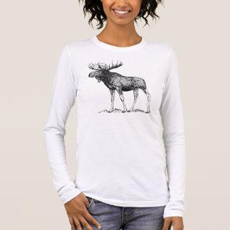 Winter Moose Long Sleeve T-Shirt