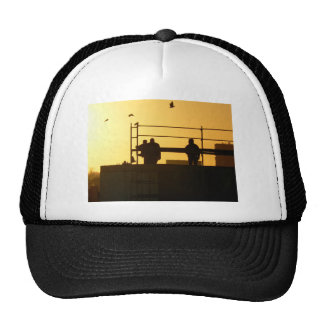 Winter morning above the city trucker hat