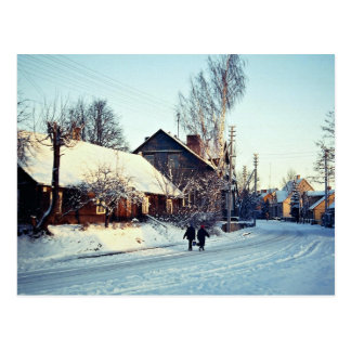 Winter morning, Prienai, Lithuania Winter Postcard