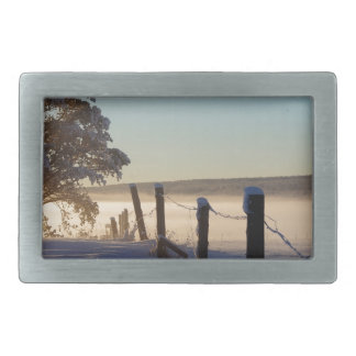 Winter Morning St Joseph Island Belt Buckle