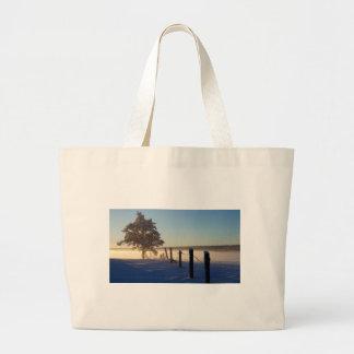 Winter Morning St Joseph Island Large Tote Bag