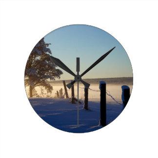 Winter Morning St Joseph Island Wallclock