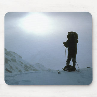 Winter Mountain Hiking Mouse Pad