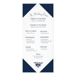 Winter Mountain Pines Wedding Program