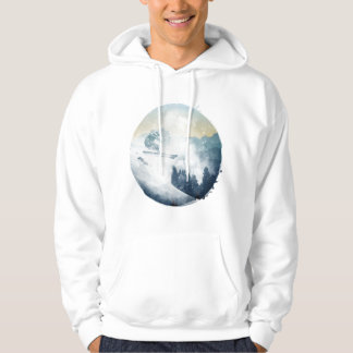 Winter Mountain Ski Slope, Men's Hoodie