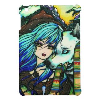 Winter Mountain Snow Vampire Wolf Girl Fantasy Art iPad Mini Cover