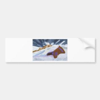 Winter Mountains Art Bumper Sticker