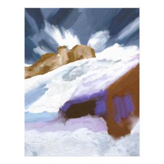 Winter Mountains Art Letterhead