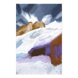 Winter Mountains Art Stationery