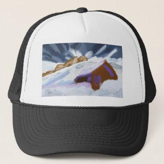 Winter Mountains Art Trucker Hat