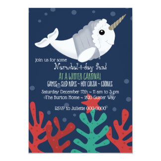 Winter Narwhal Invitation