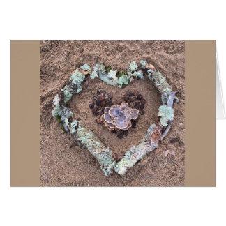 Winter Nature Art Heart Card