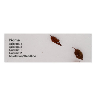 winter nature snow skinny card business mini business card