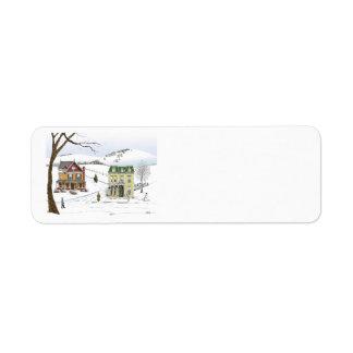Winter Neighborhood Label Return Address Label