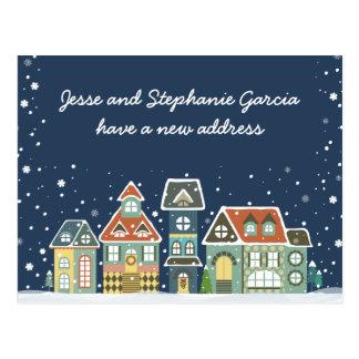 Winter New Home Address We've Moved Postcard