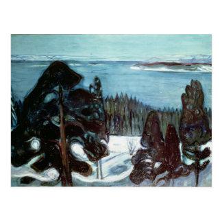 Winter Night, 1900 Postcard