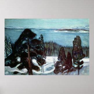 Winter Night, 1900 Poster