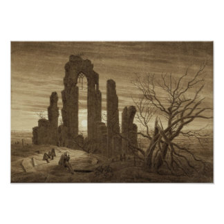 Winter Night Caspar David Friedrich Poster