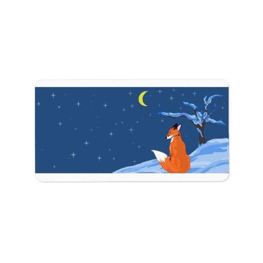 Winter Night Fox Label