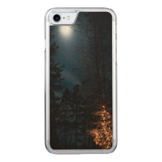 Winter night lights carved iPhone 8/7 case