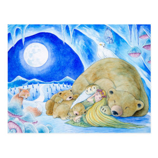 """Winter Night"" Postcard"