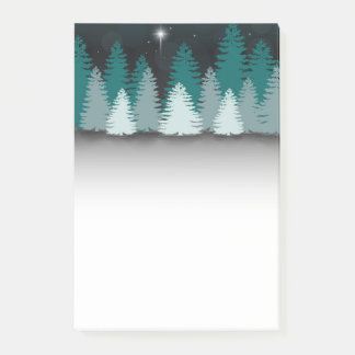 Winter Night with Star of Bethlehem Post-it® Notes