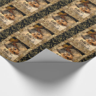 Winter Nights Yorkie Customize Wrapping Paper