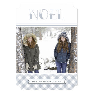 Winter Noel   Holiday Photo Card