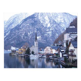 WINTER OF HALLSTATT AUSTRIA Postcard