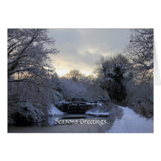 Winter on the Basingstoke Canal Card