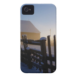 Winter on the farm iPhone 4 cover