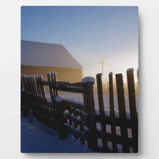 Winter on the farm plaque