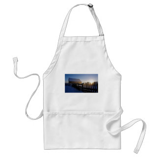Winter on the farm standard apron