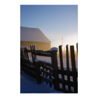Winter on the farm stationery