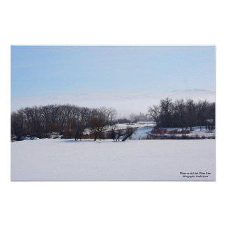 Winter on the Little Weiser River Poster